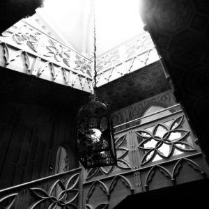 Staircase and Lantern. Image by Lenora.