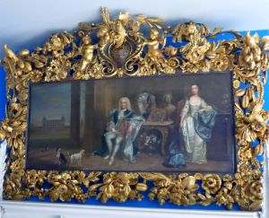Walpole's parents (the frame is a 3D photocopy of the original).