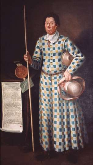 Thomas Skelton last jester of Muncaster Castle. Image via BBC website.