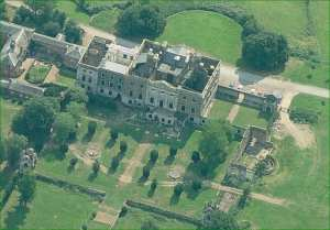 aerial view of Copped Hall and grounds. Via Copped Hall Trust.