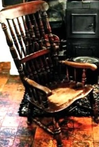Busby's favourite chair. Image source: Paranormalguide.com
