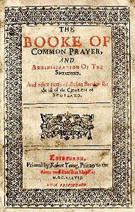 The Book of Common Prayer, Scotland 1637. Source Wikimedia.