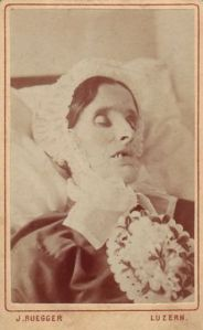 Carte de visite post mortem image. Paul Frecker collection.