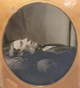 Victorian Post Mortem Ambrotype, in case. Source unknown.