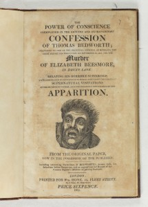 Frontispiece of Thomas Bedworth's confessions.
