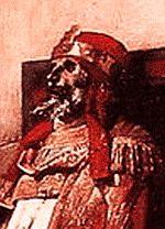 Pope Formosus on trial. Detail.