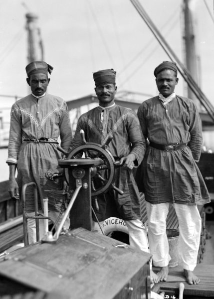 Three Lascars on the Viceroy of India.  Wikipedia