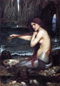 John William waterhouse, Mermaid, 900