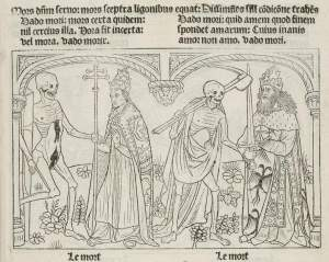 Marchants Danse Macabre, pope and emperor