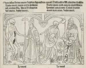 Marchants Danse Macabre, pope and emperor