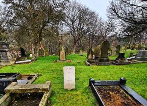 War grave at Church Bank cemetery, Wallsend, North Tyneside.